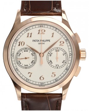 Patek Philippe 5170R-001 Complications 39.4mm Silver Opaline Arabic Rose Gold Leather BRAND NEW