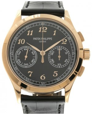 Patek Philippe 5170R-010 Complications 39.4mm Black Opaline Arabic Rose Gold Leather BRAND NEW
