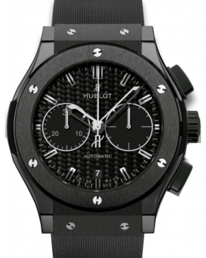 Hublot Classic Fusion Chronograph 521.CM.1770.RX Carbon Fiber Index Black Ceramic & Rubber 45mm BRAND NEW