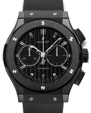 Hublot Classic Fusion Chronograph 521.CM.1770.RX Carbon Fiber Index Black Ceramic & Rubber 45mm BRAND NEW