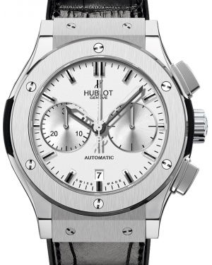 Hublot Classic Fusion Chronograph 521.NX.2610.LR Silver Index Titanium & Leather 45mm BRAND NEW
