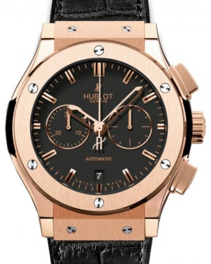 Hublot Classic Fusion Chronograph 521.OX.1180.LR Black Index Rose Gold & Leather 45mm BRAND NEW