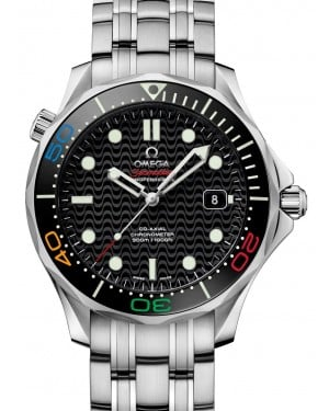 Omega 522.30.41.20.01.001 Seamaster Diver 300m Co-Axial 41mm Black Index Stainless Steel BRAND NEW