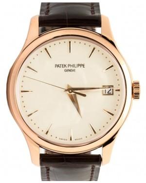 Patek Philippe 5227R-001 Calatrava 39mm Ivory Index Date Rose Gold Leather BRAND NEW
