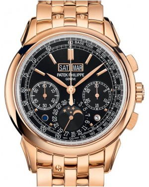 Patek Philippe Grand Complications 5270/1R-001 Black Sunburst Index Rose Gold 41mm - BRAND NEW