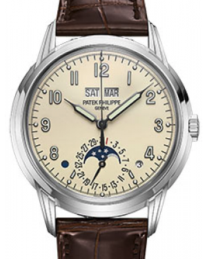 Patek Philippe Grand Complications 5320G-001 Cream Arabic White Gold Leather 40mm Automatic - BRAND NEW