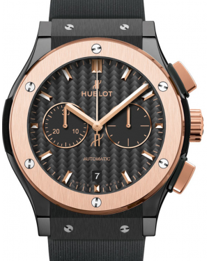 Hublot Classic Fusion Chronograph 541.CO.1781.RX Carbon Fiber Index Rose Gold Bezel & Black Ceramic Case Rubber 42mm BRAND NEW