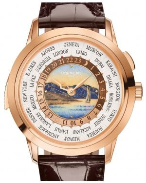 Patek Philippe World Time Minute Repeater Grand Complications 5531R-001 Enamel Rose Gold Leather 40.2mm - BRAND NEW
