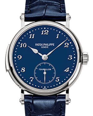 Patek Philippe 5539G-010 Grand Complications 37mm Blue Enamel Arabic White Gold Leather BRAND NEW