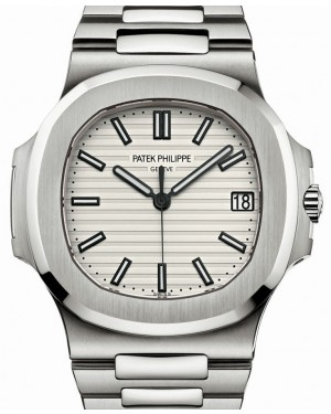 Patek Philippe Nautilus Stainless Steel 40mm White Index Steel Bracelet 5711/1A-011  BRAND NEW