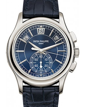 Patek Philippe Complications Annual Calendar Chronograph Platinum 42mm Blue Dial 5905P-001 -  BRAND NEW