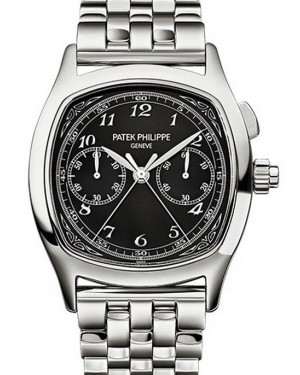 Patek Philippe 5950/1A-012 Grand Complications Chronograph 37 × 44.6mm Black Arabic Stainless Steel Manual - BRAND NEW