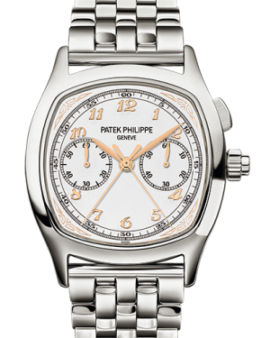 Patek Philippe 5950/1A-013 Grand Complications Perpetual Calendar Day Month Moon Phase 37 × 44.6mm Silver Arabic Stainless Steel Manual - BRAND NEW