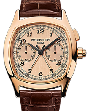 Patek Philippe 5950R-010 Grand Complications 37 × 44.6mm Champagne Satin Arabic Rose Gold Leather - BRAND NEW