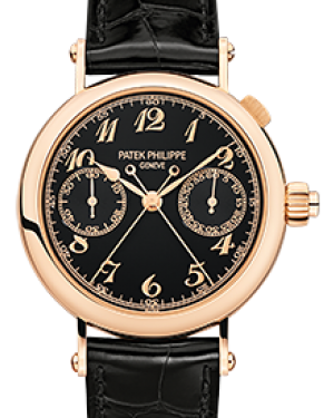 Patek Philippe 5959R-001 Grand Complications 33.2mm Black Opaline Arabic Rose Gold Leather BRAND NEW