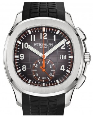 Patek Philippe Aquanaut Chronograph Stainless Steel 42.2mm Black Dial Composite Rubber Strap 5968A-001 - BRAND NEW