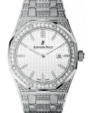 119325e06ba3 Audemars Piguet 67652BC.ZZ.1262BC.01 Royal Oak Quartz Ladies 33mm Silver  Diamond ...