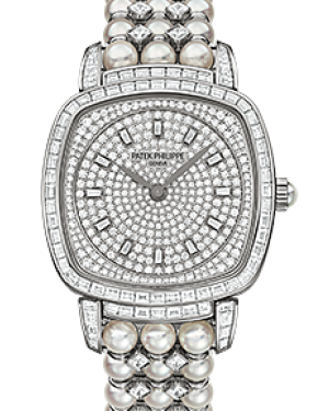 Patek Philippe 7042/100G-001 Gondolo Ladies 31 × 34.8mm Diamond Pave White Gold Diamond Set Manual - BRAND NEW