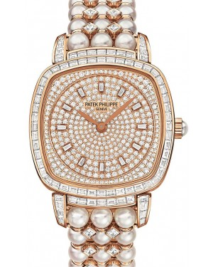 Patek Philippe 7042/100R-001 Gondolo Ladies 31 × 34.8mm Diamond Pave Rose Gold Diamond Set Manual - BRAND NEW