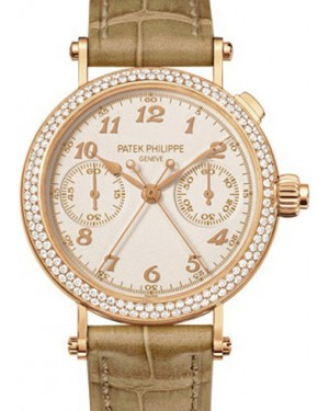 Patek Philippe 7059R-001 Grand Complications Ladies 33.2mm Silver Opaline Arabic Rose Gold Manual BRAND NEW