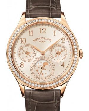 Patek Philippe 7140R-001 Grand Complications Ladies Perpetual Calendar 35.1mm White Opaline Arabic Diamond Bezel Rose Gold Manual BRAND NEW