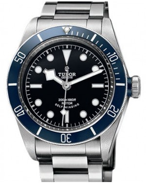 Tudor Heritage Black Bay 79220B-95740 Black Index Stainless Steel & Blue Bezel 41mm BRAND NEW