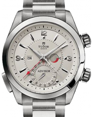 Tudor Heritage Advisor 79620T Silver Arabic & Index Titanium & Stainless Steel 42mm BRAND NEW