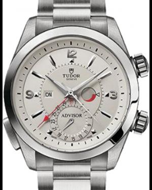 Tudor Heritage Advisor 79620T Silver Arabic & Index Titanium & Stainless Steel 42mm BRAND NEW