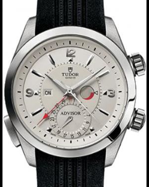 Tudor Heritage Advisor 79620T Silver Arabic & Index Titanium & Stainless Steel Black Rubber 42mm BRAND NEW
