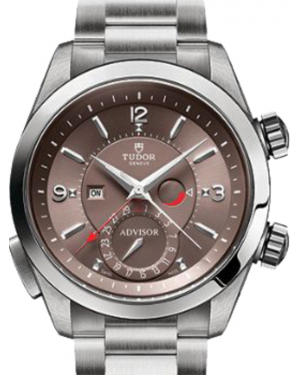 Tudor Heritage Advisor 79620TC Cognac Arabic & Index Titanium & Stainless Steel 42mm BRAND NEW