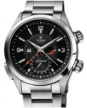 Tudor Heritage Advisor 79620TN-95740 Black Arabic & Index Titanium & Stainless Steel 42mm BRAND NEW