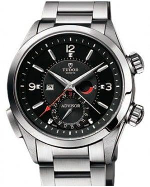 Tudor Heritage Advisor 79620TN-95740 Black Arabic & Index Titanium & Stainless Steel 42mm BRAND NEW