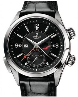 Tudor Heritage Advisor 79620TN Black Arabic & Index Titanium & Stainless Steel & Leather 42mm BRAND NEW