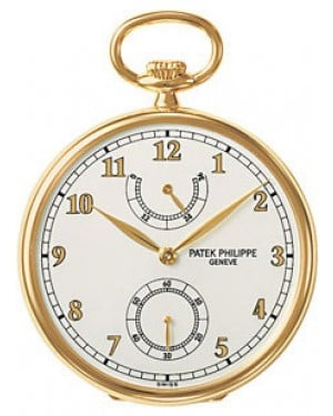 Patek Philippe 972/1J-010 Lepine Pocket Watch 44mm Ivory Arabic Yellow Gold Manual BRAND NEW