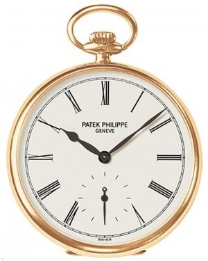 Patek Philippe 973J-010 Lepine Pocket Watch 44mm Ivory Roman Yellow Gold Manual BRAND NEW