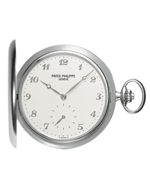 Patek Philippe 980G-010 Lepine Pocket Watch 48mm Ivory Arabic White Gold Manual BRAND NEW