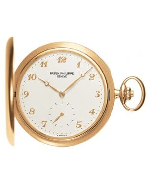 Patek Philippe 980J-011 Lepine Pocket Watch 48mm Ivory Arabic Yellow Gold Manual BRAND NEW