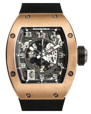 Richard Mille Automatic Rose Gold Skeleton Dial RM010 - PRE-OWNED
