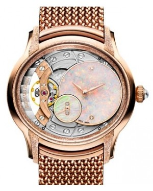 Audemars Piguet Millenary Frosted Gold Opal Dial Rose Gold White Opal  Dial & Fixed Bezel Rose Gold Bracelet 77244OR.GG.1272OR.01 - BRAND NEW