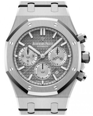 Audemars Piguet Royal Oak Selfwinding Chronograph Stainless Steel Ruthénium-Toned Index Dial & Fixed Bezel Steel Bracelet 26315ST.OO.1256ST.02 - BRAND NEW