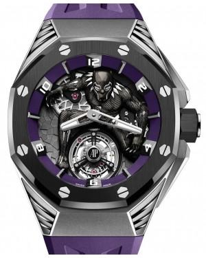"Audemars Piguet Royal Oak Concept ""Black Panther"" Flying Tourbillon Titanium 42mm Black Purple 26620IO.OO.D077CA.01 - BRAND NEW"