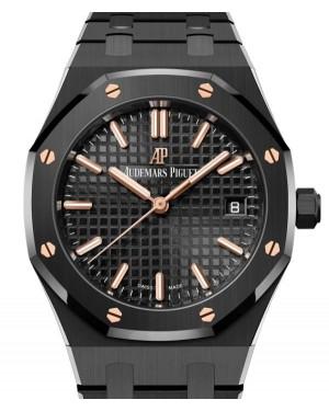 Audemars Piguet Royal Oak Ladies Black Ceramic 34mm Black Dial Bracelet 77350CE.OO.1266CE.01 - BRAND NEW