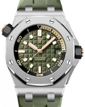 Audemars Piguet Royal Oak Offshore Selfwinding Chronograph Stainless Steel 42mm Green Dial 15720ST.OO.A052CA.01 - BRAND NEW