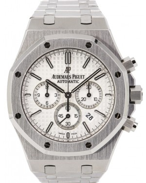Audemars Piguet Royal Oak Stainless Steel Chronograph 41mm White Index Dial 26320ST.OO.1220ST.02 - PRE-OWNED