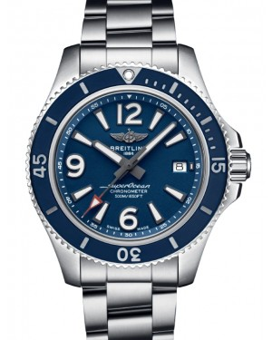 Breitling Superocean Automatic 42 Blue Dial & Bezel Stainless Steel Bracelet 42mm A17366D81.C1A1 - BRAND NEW