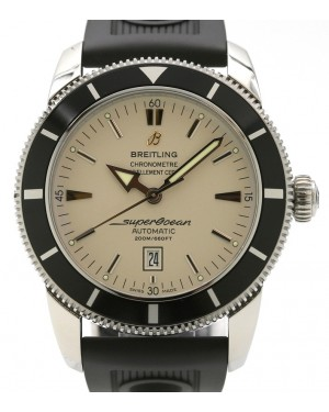 Breitling Superocean Heritage 46 A1732024 Stainless Steel Silver Index Dial & Rubber Bracelet - PRE-OWNED