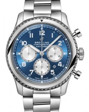 Breitling Navitimer 8 B01 Chronograph 43 Blue Dial Stainless Steel Bezel & Bracelet AB0117131.C1A1 - BRAND NEW
