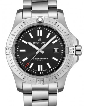 Breitling New Colt 44 Black Dial Stainless Steel Bezel & Bracelet 44mm A17388101.B1A1 - BRAND NEW