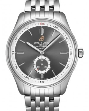 Breitling Premier Automatic 40 Anthracite Dial Stainless Steel Bezel & Bracelet A37340351.B1A1 - BRAND NEW