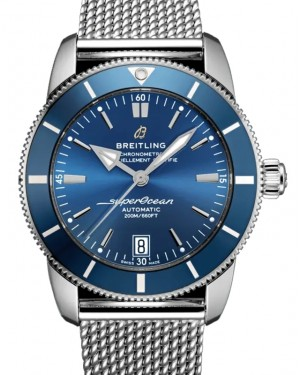 Breitling Superocean Heritage B01 Chronograph 42 Blue Dial & Bezel Stainless Steel Bracelet AB2010161.C1A1 - BRAND NEW